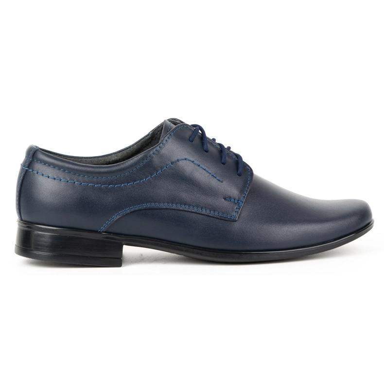 Lukas Sapatos de comunhão formal para crianças J1 azul marinho marinha