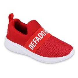 Calçados infantis Befado 516X081 branco vermelho