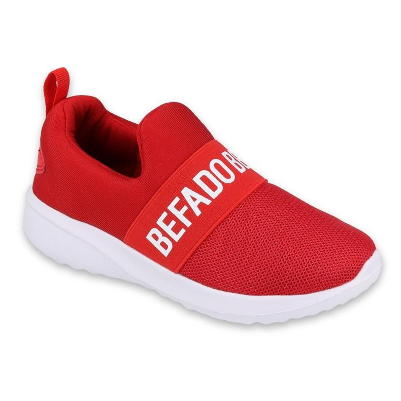 Sapatos juvenis Befado 516Q081 branco vermelho