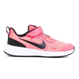 Tênis Nike Revolution 5 Psv Jr BQ5672-602 branco rosa