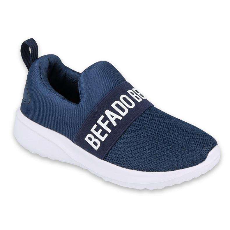Calçados infantis Befado 516Y082 branco azul marinho