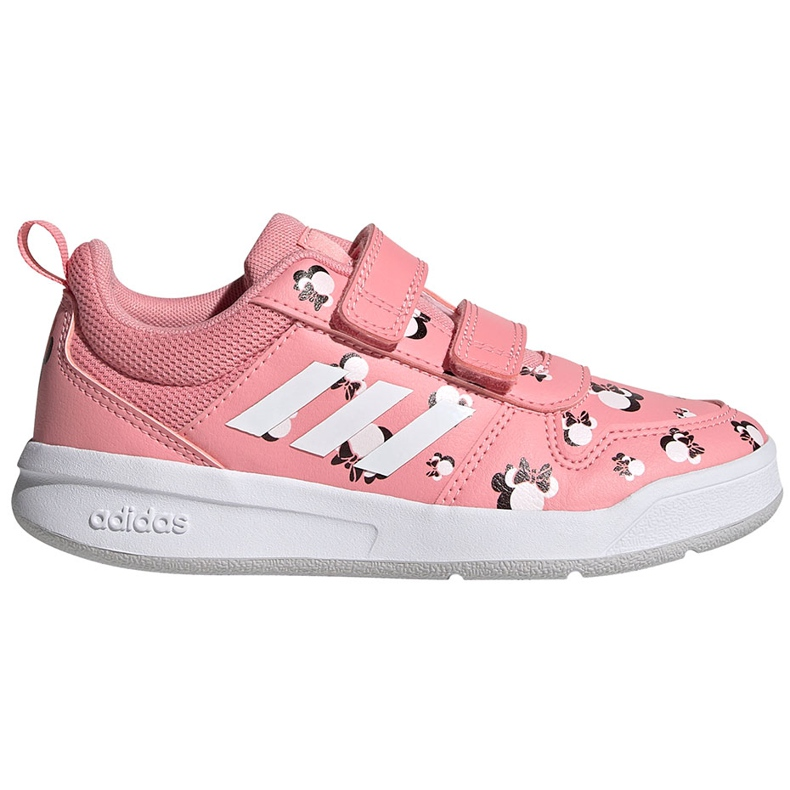 Sapatos infantis Adidas Tensuar C rosa FZ3212 branco