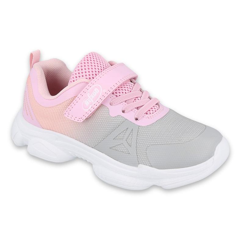 Calçados infantis Befado 516Y055 rosa cinza