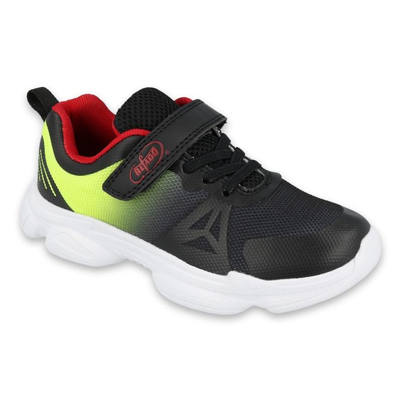 Sapatos juvenis Befado 516Q057 preto vermelho verde