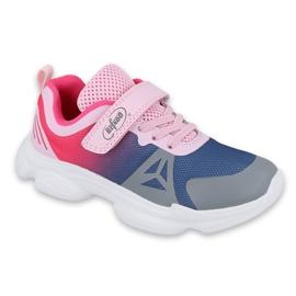 Calçados infantis Befado 516Y054 azul marinho rosa cinza multicolorido