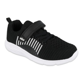 Sapatos juvenis Befado 516Q062 branco preto