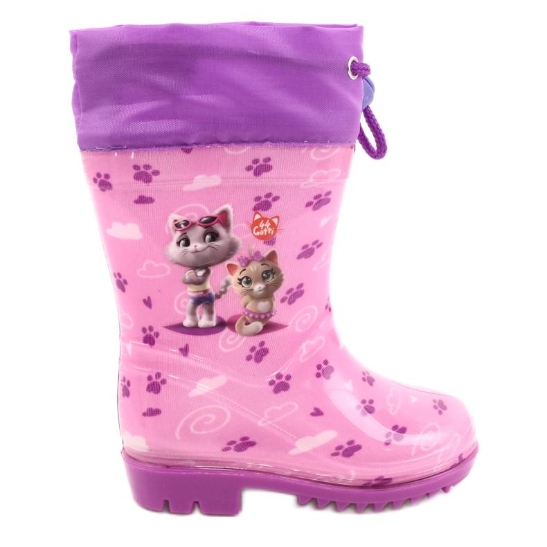 American Club Galochas American Pink Kitties KAL05 tolet rosa