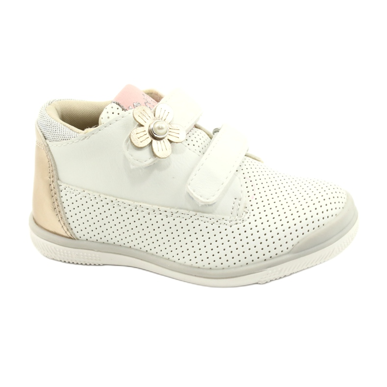 American Club Calçados Esportivos Com Velcro GC06 / 21 Branco e Dourado