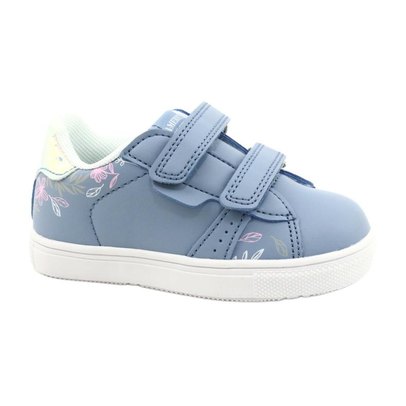 American Club Sapatos de velcro ES22 / 21 azul prata