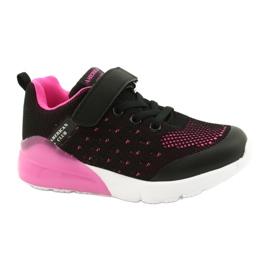 American Club Calçado desportivo feminino com velcro RL12 / 21 preto rosa