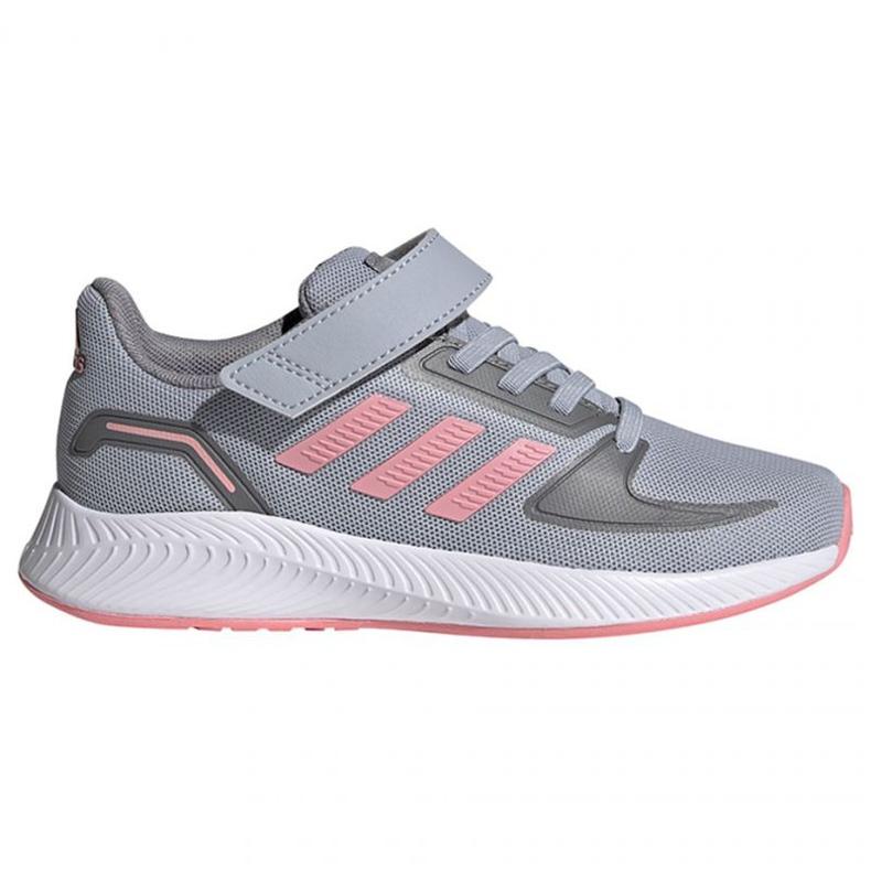 Sapatos adidas Runfalcon 2.0 C Jr FZ0111 rosa cinza