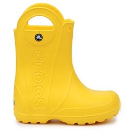 Crocs Handle It Rain Boot Jr 12803-730 castanho amarelo