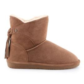 Sapatos BearPaw Mia Jr 2062Y-220 Hickory Ii branco castanho