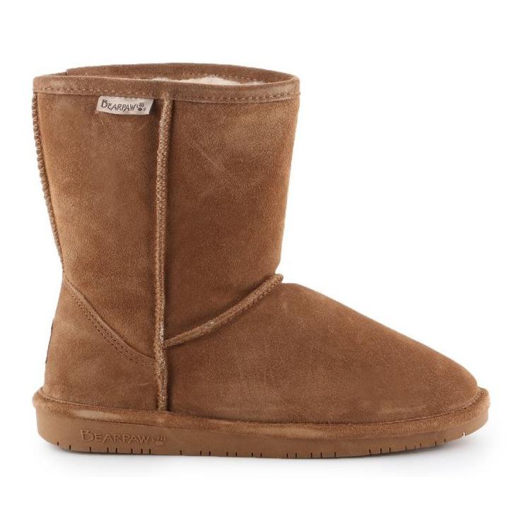 Sapatos BearPaw Emma Youth 608Y-920 W Hickory Neverwet castanho preto