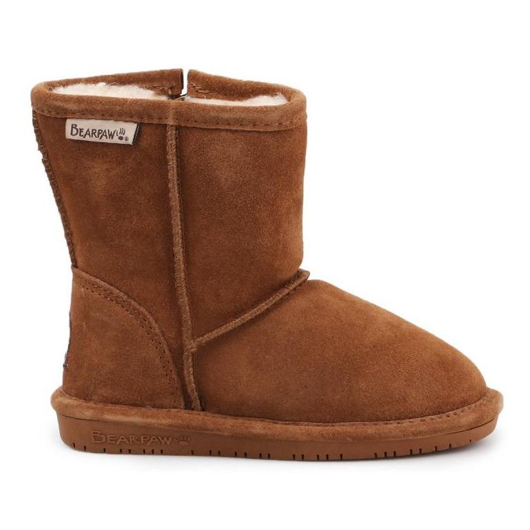 Sapatos de inverno BearPaw Emma Toddler 608TZ castanho preto