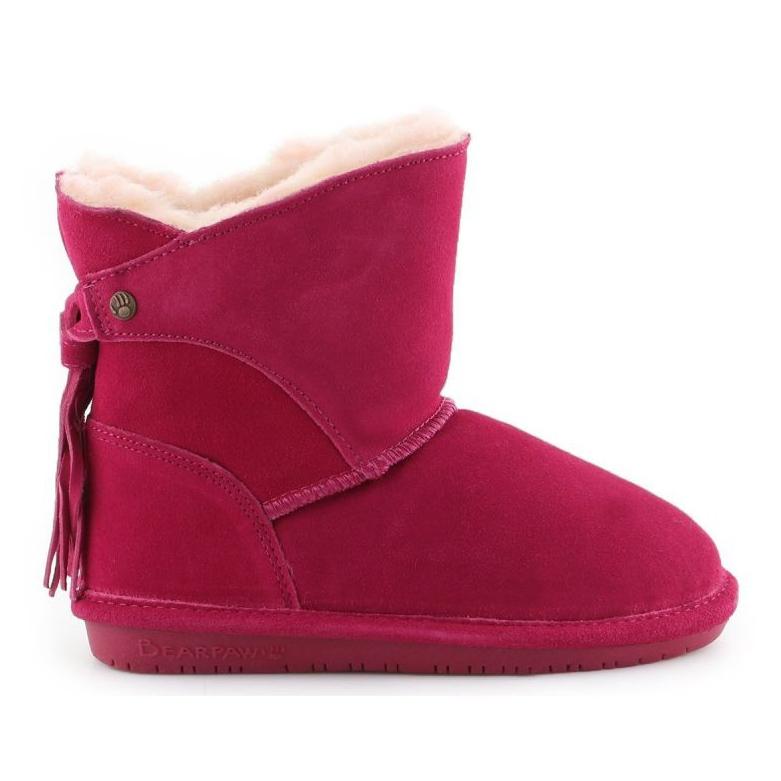Sapatos Bearpaw Mia Toddler Jr.2062T-671 Pom Berry rosa