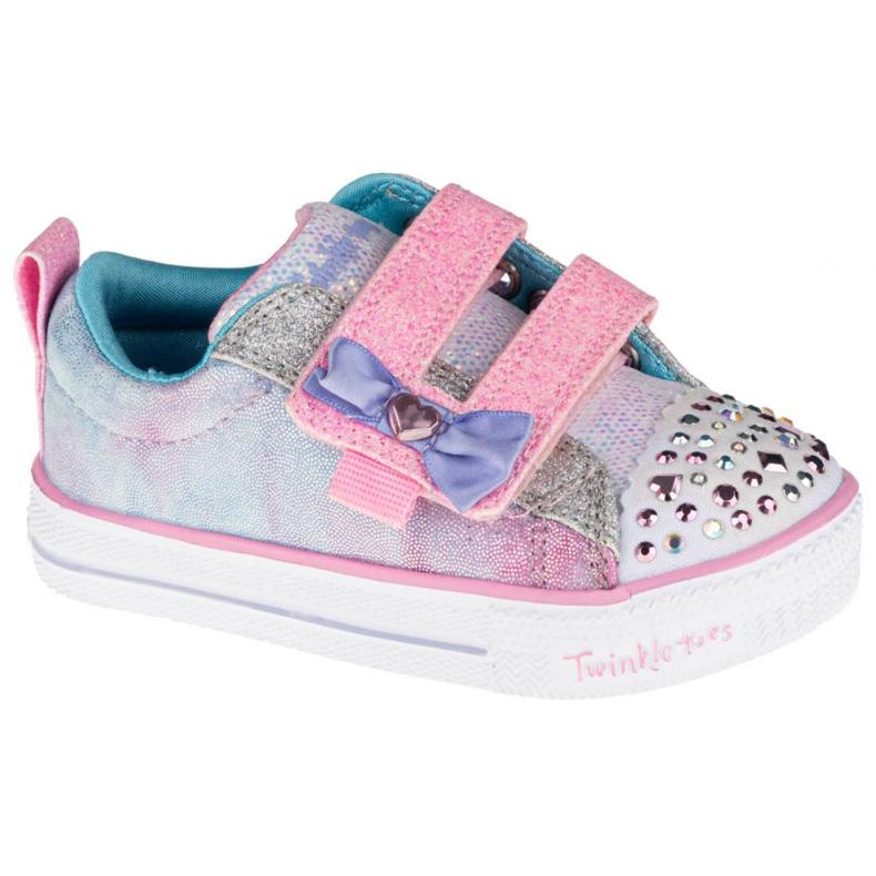 Sapato Skechers Shuffle Lite Sweet Supply Jr 20320N-LPMT preto multicolorido
