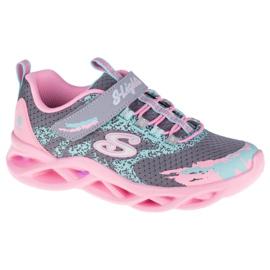 Sapatos Skechers Twisty Brights W 302301L-GYPK rosa cinza