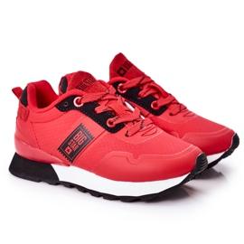 Sapatos esportivos infantis de espuma de memória Big Star HH374173 vermelho