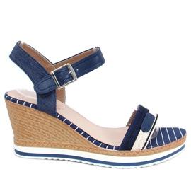 Sandálias da Marinha com cunhas A89832 Azul