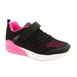 American Club Calçado desportivo feminino com velcro RL11 preto / rosa