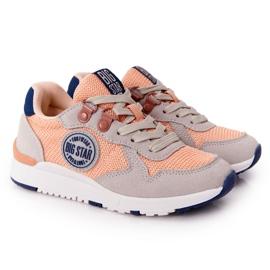 Sapatos esportivos infantis com espuma viscoelástica Big Star HH374180 laranja azul marinho cinza