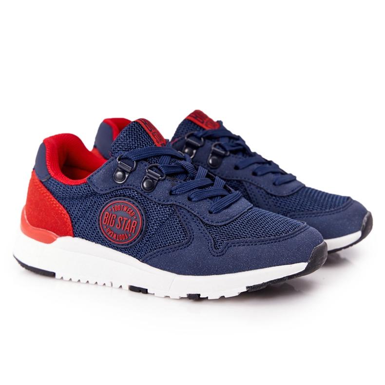 Sapatos esportivos infantis de espuma de memória Big Star HH374175 azul marinho multicolorido