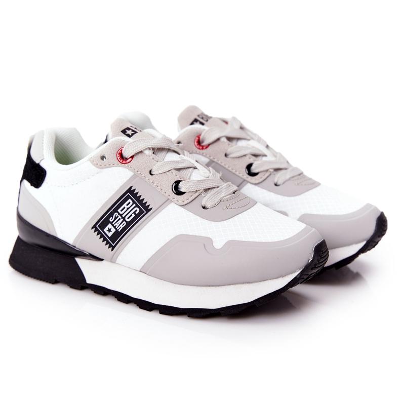 Sapatos esportivos infantis de espuma de memória Big Star HH374168 branco