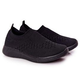 EVE Calçados infantis esportivos pretos deslizantes para viagem escolar