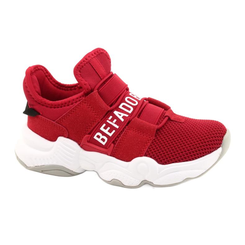 Calçados infantis Befado 516X064 branco vermelho