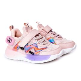 Apawwa Calçados infantis esportivos tênis rosa salto salto multicolorido