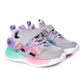 Apawwa Calçados infantis esportivos tênis salto cinza multicolorido
