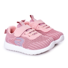 Apawwa Sapatos esportivos infantis rosa pequeno desportista