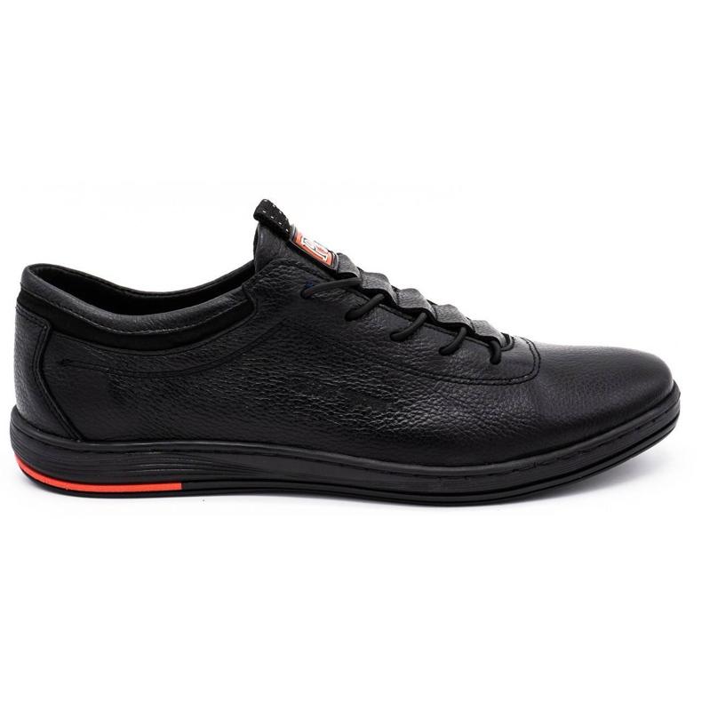 Polbut Sapatos casuais de couro masculino K23 preto