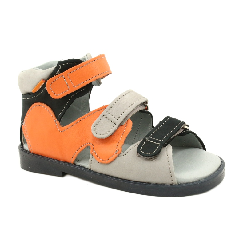 Sandálias de alta profilaxia Mazurek 291 cinza laranja