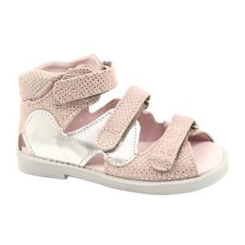 Sandálias de alta profilaxia Mazurek 291 rosa-prata -de-rosa