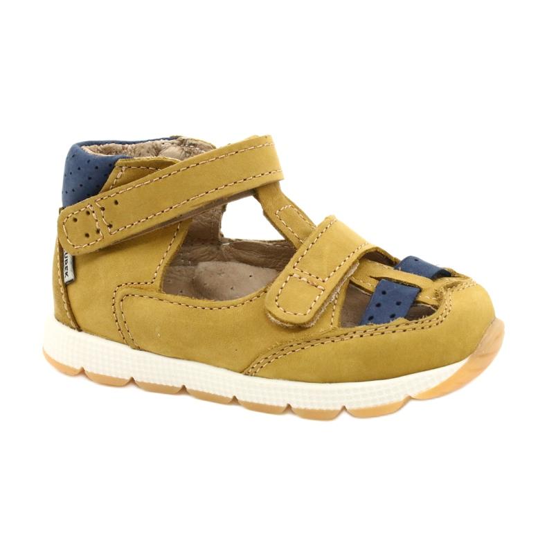 Nabos masculinos Sandals Mazurek 1187 c. Amarelo marinha