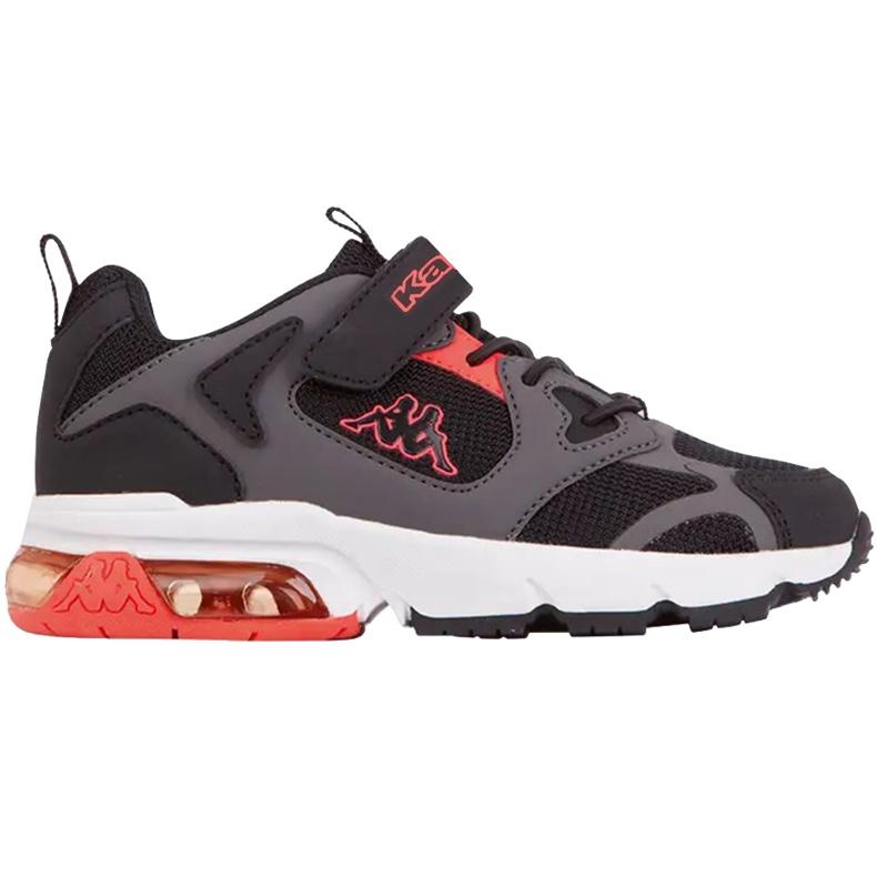 Sapatos infantis Kappa Yero preto-cinza-coral 260891K 1129 vermelho