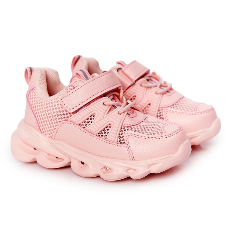 Tênis Infantil Com Solado Iluminado Led Pink So Cool! rosa