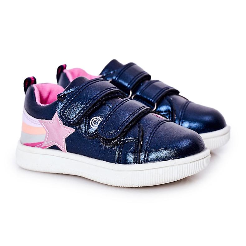 PE1 Calçados Esportivos de Couro Ecológico Infantil Com Arco-Íris Azul Marinho Jasmim multicolorido