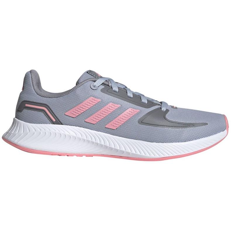 Sapatos infantis Adidas Runfalcon 2.0 K cinza-rosa FY9497