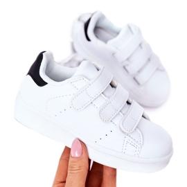 FR1 Calçado desportivo infantil com velcro preto e branco Fifi