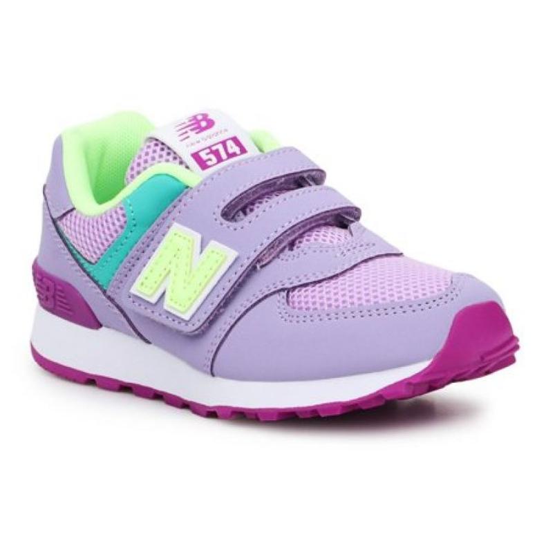 Tênis New Balance Jr PV574BVM rosa verde
