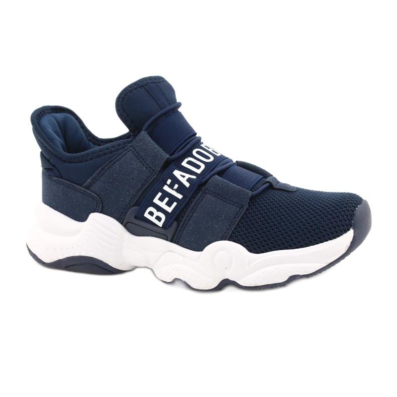 Sapatos juvenis Befado 516Q065 azul marinho