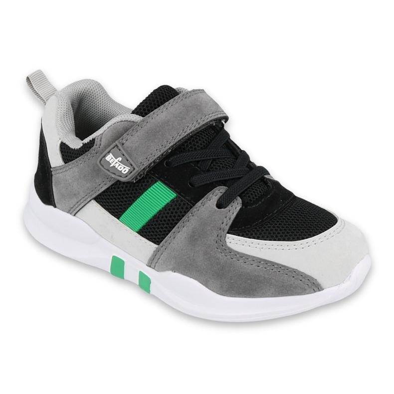 Calçados infantis Befado 516X075 preto cinza