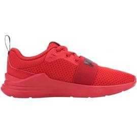 Puma Wired Run Jr 374216 05 vermelho