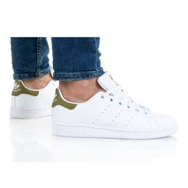 Adidas Sapatos Stan Smith Jr. H68620 branco laranja