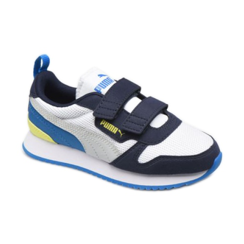 Puma R78 V Ps Jr 373617 18 branco azul marinho