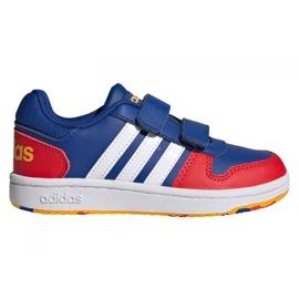 Tênis Adidas Hoops 2.0 C Jr FY9443 preto azul