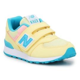 Sapatos New Balance Jr PV574BYS multicolorido amarelo